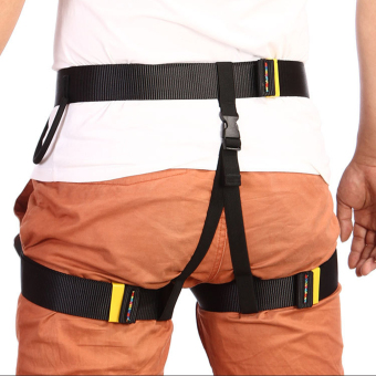 Outdoor Rappelling Climbing Harness Seat Safety Sitting Bust Belt (Black) - 3