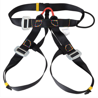 Outdoor Rappelling Climbing Harness Seat Safety Sitting Bust Belt (Black) - 2