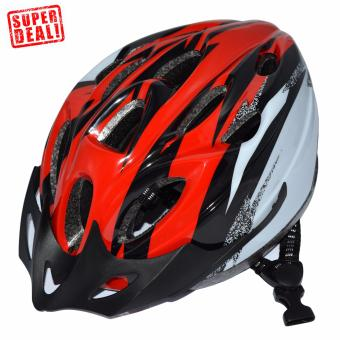 Outdoor Sports Adjustable Head Cisrcumtance MTB Cycling BicycleHelmet (Red)
