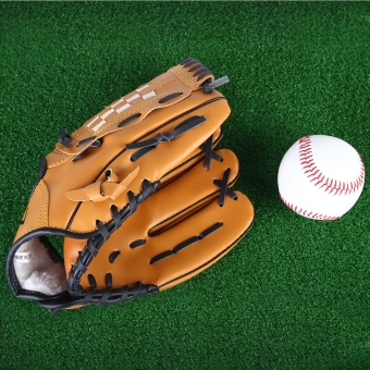 Outdoor Sports Brown Practice Left Hand Softball Equipment Baseball Glove (11.5)