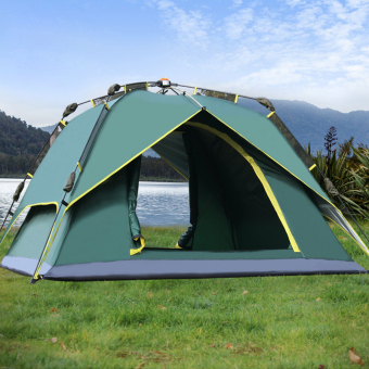 Outdoor Tent 3-4 Person Camping&Hiking Tents With CarryBag(Army Green)