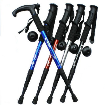 Outdoor walking climbing telescopic cane ultralight trekking poles