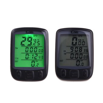 outdoorfree Wireless Bike Bicycle Cycling Computer OdometerSpeedometer LCD Backlight Backlit Waterproof Multifunction