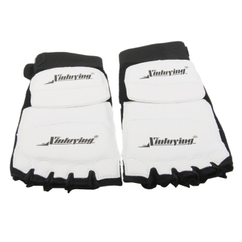 Pair Taekwondo Foot Protector MMA Karate Foot Pads Sparring Gear - L