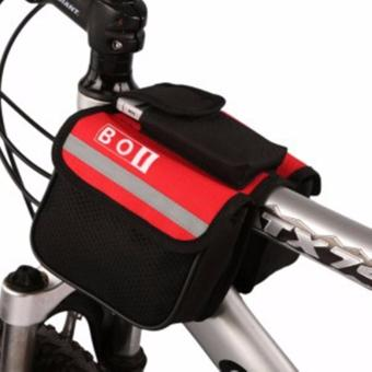 PAlight Bicycle Accessories Basket Mountain Bike Cycling Front Frame Tube Travel Flap Bag Pack - intl