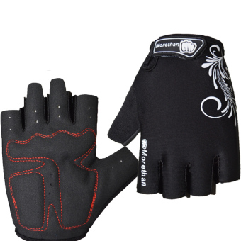 PAlight Breathable Anti-slip Anti-shock Cycling Gloves (Black M)