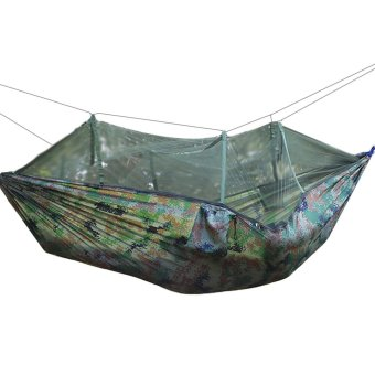 Parachute Cloth Strong Outdoor Camping Hammock Hanging Tent Bedwith Mosquito Net 2 Persons Style for Hiking Camping Travel BeachYard Camouflage - intl Price Philippines