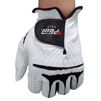 PGM Men's Golf Gloves Slip Breathable Sheepskin Gloves (White)