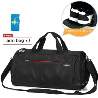 PHOEBE Hot Sale Large Capacity Fitness Gym Bag Travel Shoulder BagWith Separate Shoes Compartment - intl Price Philippines