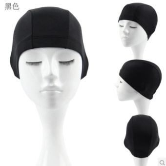 Plain ordinary genuine men and women cloth cap swimming cap