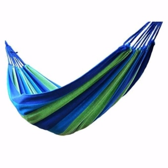 Portable Cotton Rope Outdoor Hammock (Blue)