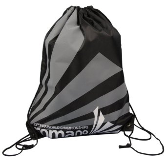 Portable Foldable Waterproof Backpack Swimming Bag Beach Snorkeling Bag (Gray+Black)
