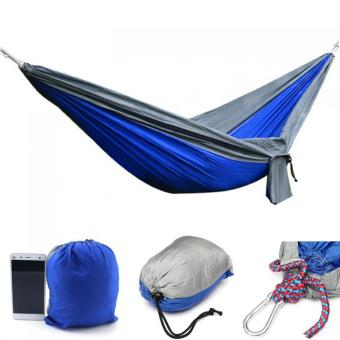 Portable Parachute Hammock Nylon Double Swing Bed for Camping Hiking Travel 270 x 140CM (Intl) (Intl) - Intl
