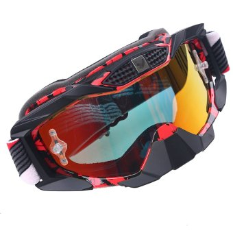 Possbay Adjustable Motorcycle Scooter Racing Riding Goggles EyewearGlasses Windproof VM - intl