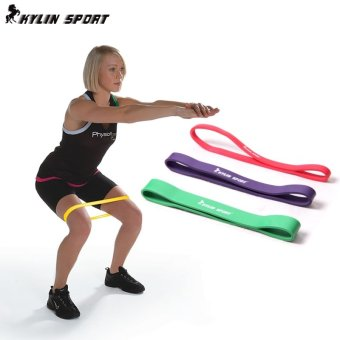 Power fitness room training latex resistance bands elastic band