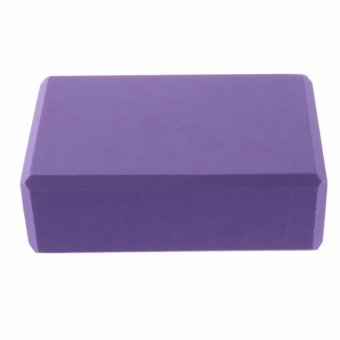 Practice Fitness Gym Sport Tool Yoga Block Brick Foaming Foam HomeExercise(Purple) - 2