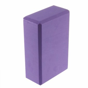 Practice Fitness Gym Sport Tool Yoga Block Brick Foaming Foam HomeExercise(Purple) - 4
