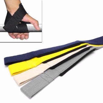 Pro Gym Training Weight Lifting Powerlifting Hand Wraps Wrist StrapSupport New - intl