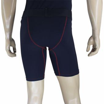 PROCARE COMBAT #CS02 Compression Men Shorts (Black/Red Flatlock Seam) - 3
