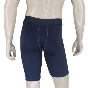 PROCARE COMBAT #CS09 Dri-Quik Men Compression Shorts (Black/GrayFlatlock Seam) - 2