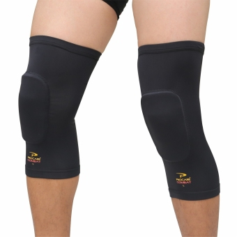 PROCARE COMBAT #CS37 Compression Padded Knee Sleeves with TopAnti-Slip Pair (Black)