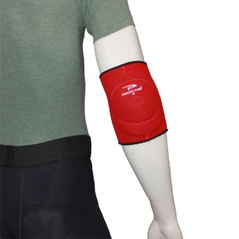 PROCARE PROTECT #4011R Elbow Support Brace Padded, Close Elbow Slip-On 4mm Neoprene (Red)