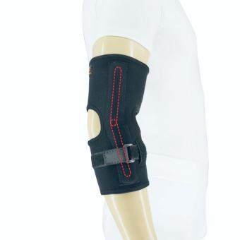 PROCARE PROTECT #4043 Elbow Brace HINGED Both Side with TensionerBelt, for Left or Right Elbow, Unisex Slip-on (Black)