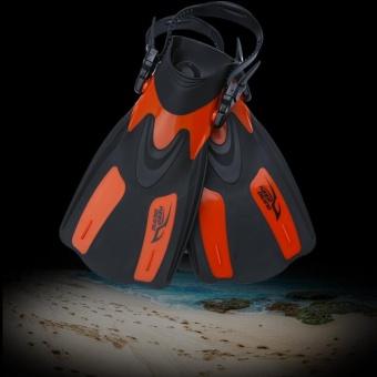 Professional Adjustable Swim Fins Snorkeling Foot Flipper Diving Equipment for Adult (Black L) - intl - 4