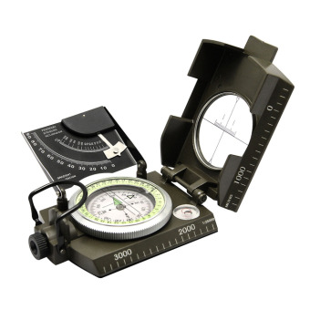 Professional compass Military Army Geology Compass Sighting Luminous Compass for Outdoor Hiking Camping - 2