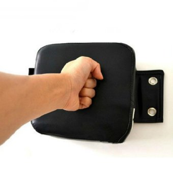 PU Wall Punch Boxing Bags Pad Focus Target Pad Wing Chun Boxing Fight Sanda Taekwondo Training Bag Sandbag (Black) - intl