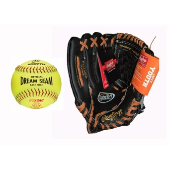 Rawlings Player Series Gloves PL115MB With Worth Dream SeamSoftball (C12RYSA) Price Philippines