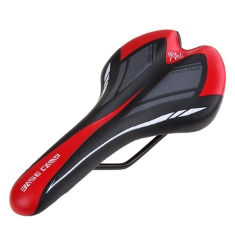 """Redcolourful Big Sale Bike Bicycle Cycling Saddle Seat, Professional Road MTB Gel Comfort Saddle Bike Bicycle Cycling Seat Black+Red Color:black+red"""