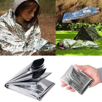 rescue emergency blanket survival thermal tent mylar lifesavingfirst aid kit treatment camping warm heat dry keeping foilbushcraft outdoor hiking backpack waterproof Mountain ClimbMountaineer - intl