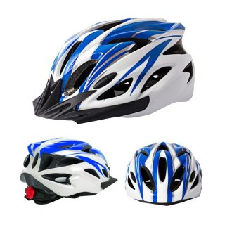 Road Cycling Mountain Bike Helmet Riding for Men Women Ultralight Blue and White