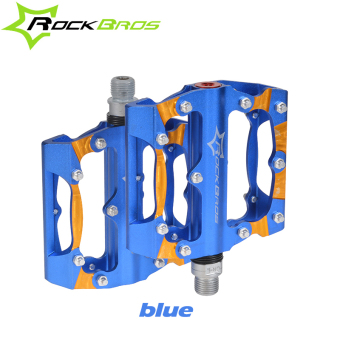 RockBros 3 Colors Aluminium Alloy Sealed Bearing Mountain Road BikePedals Bicycle Pedal Cycling Platform Parts Pedales Bicicleta MTB