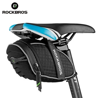 RockBros Quick Install Cycling Back Seat Saddle Bag Rainproof Bike Bag Reflective Stripe MTB Mountain Road Pouch Bicycle Accessories 4 Colors - intl