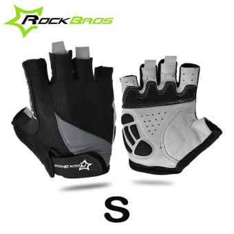 RockBros Size S Half Finger Cycling Gloves Guantes Ciclismo Gel Shockproof Breathable MTB Bike Gloves Bicycle Gloves Black