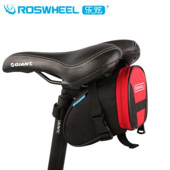 Roswheel Mountain Road Bike Bag Bicycle Bag Accessories Cycling Rear Seat Seatpost Saddle Bag Black&Red