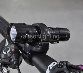 Rotation Torch Clip Mount Bike Bicycle Front Light BracketFlashlight Holder A (Intl)