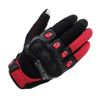 RS-TAICHI RST412 Winter Warm Waterproof Windproof Protective GlovesBlack/Red