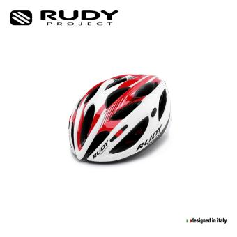 """RUDY PROJECT ROAD BIKE HELMET ZUMAX WHITE-RED SHINY - HL560022 - L59-61/23,2'-24'"""