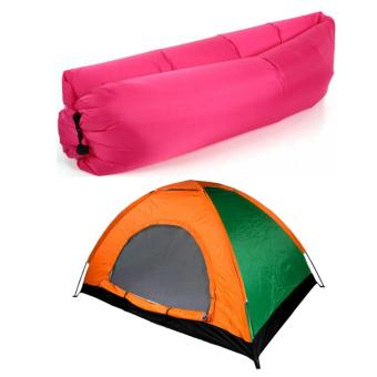 Rukia 2 Person Family Camping Tent with Fast Inflatable SleepingBed Folding Sofa/Chair