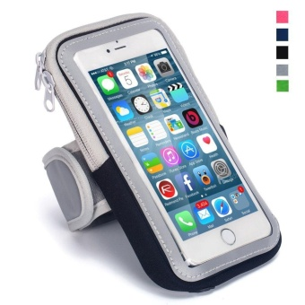 Running Cycling Hiking Sports Fitness Armbands for 6.0 inch and below Mobile Phones for iPhone 7/7 Plus 6/6S Plus SE 5S 5 for Samsung Android Smartphones (Black) - intl
