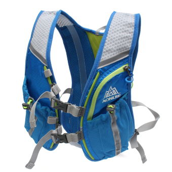 Running Cycling Vest Backpack Sports Camping Hydration Water Bladder Bag Blue - 3