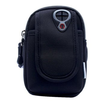 S & F Outdoor Cycling Sport Running Wrist Pouch Mobile Cellphone Bag Black - Intl