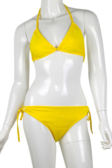 Sanwood Women's Lingerie Swimwear Bikini Set Yellow