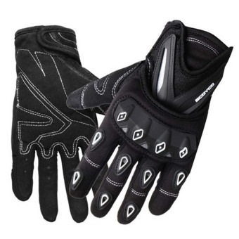 SCOYCO MC10 Bicycle Motorcycle Cycling Racing Riding ProtectiveGloves Full Finger Riding Glove-White