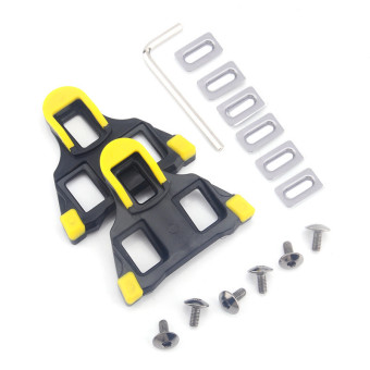 Self-locking Outdoor Bicycle Cycling Clipless Pedals Cleats Road SM-SH11 SPD-SL(Yellow) (Intl)