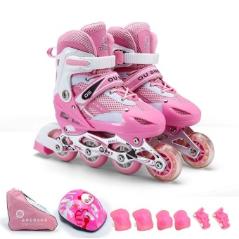Size S(30-33)Kid's Roller Skates Shoes Athletic Roller Shoe for Children PU Material Skating Shoes - intl