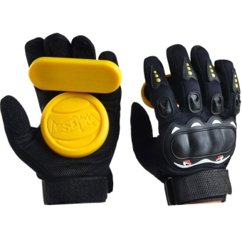 Skateboard Longboard Freeride Slide Protective Gloves with Guard Slider - intl